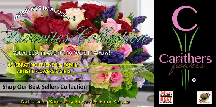 Enjoy fresher flowers and award-winning flower arrangements with same day delivery around Atlanta or across the USA.  Carithers  Flowers, Voted Best Florist 2016