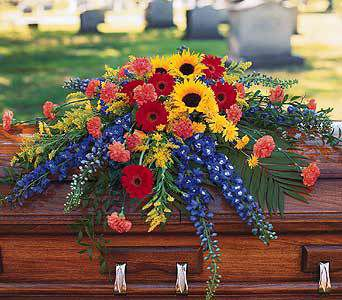 Deliver Casket Cover Flowers