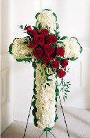 Funeral Cross of Fresh Flowers Atlanta, Alpharetta, Lawrenceville, Marietta, Roswell, Smyrna