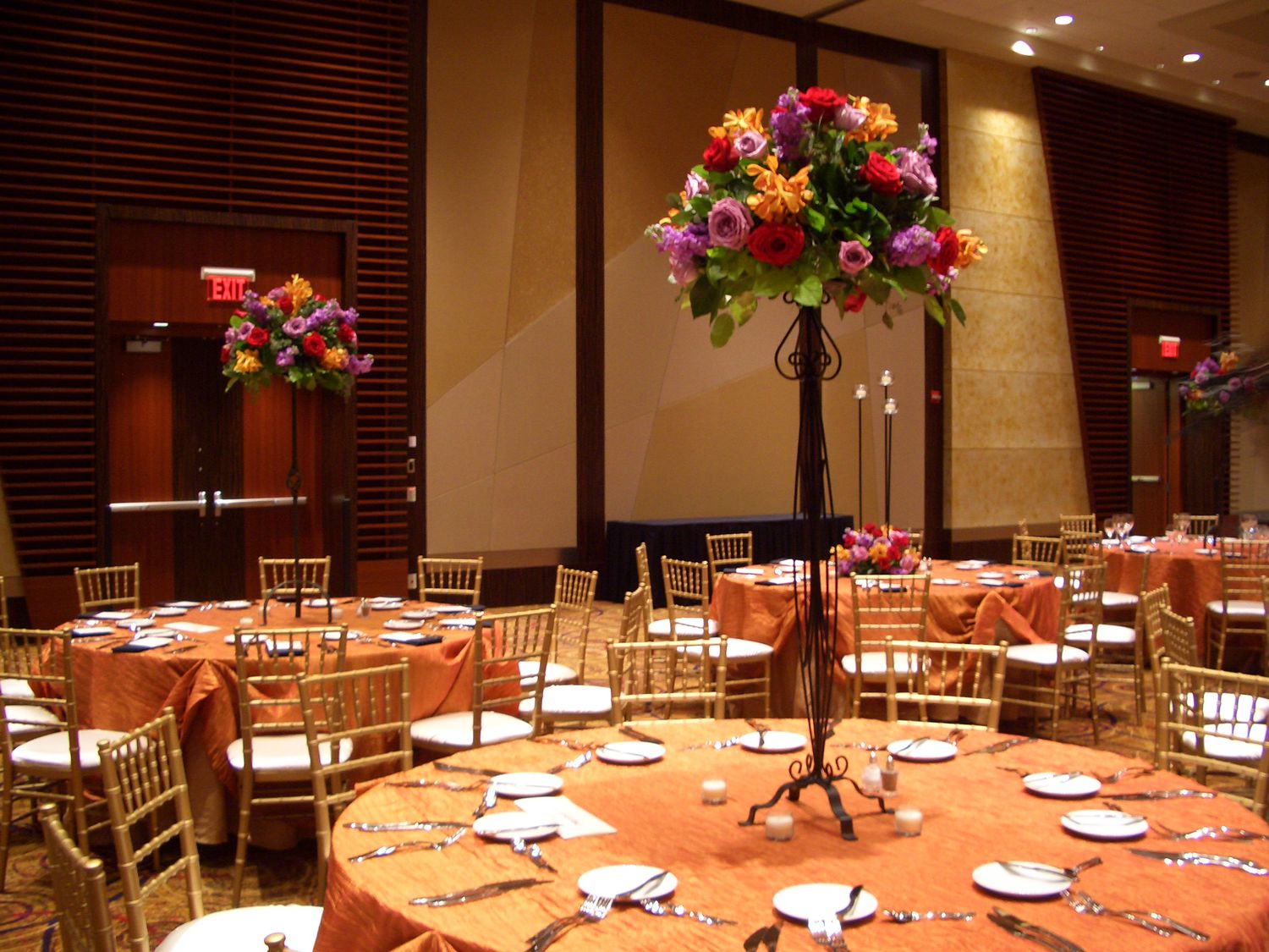 Carithers Wedding Reception Flowers Centerpieces Decorations