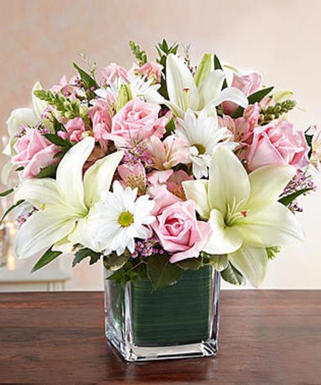Comfort & Condolences in Pinks & Whites