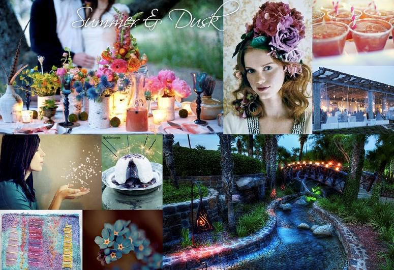 Carithers Wedding and Events Summer Dusk Palette and Styles