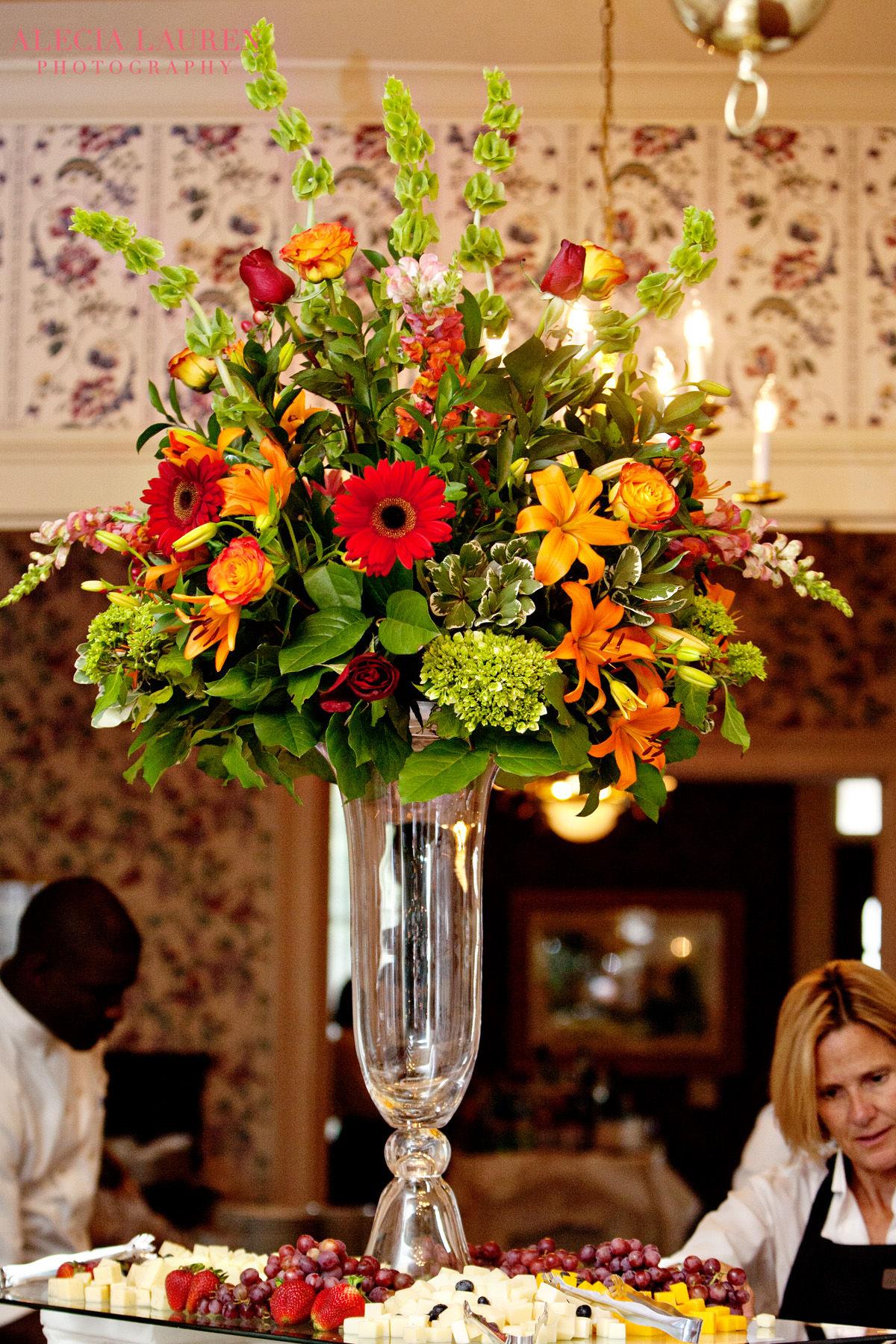 Wedding reception flowers centerpieces decorations carithers trumpet vase reviewsmspy